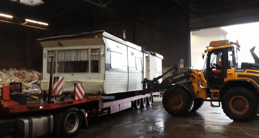 Slopen en/of afvoer oude stacaravan, chalet of woonwagen