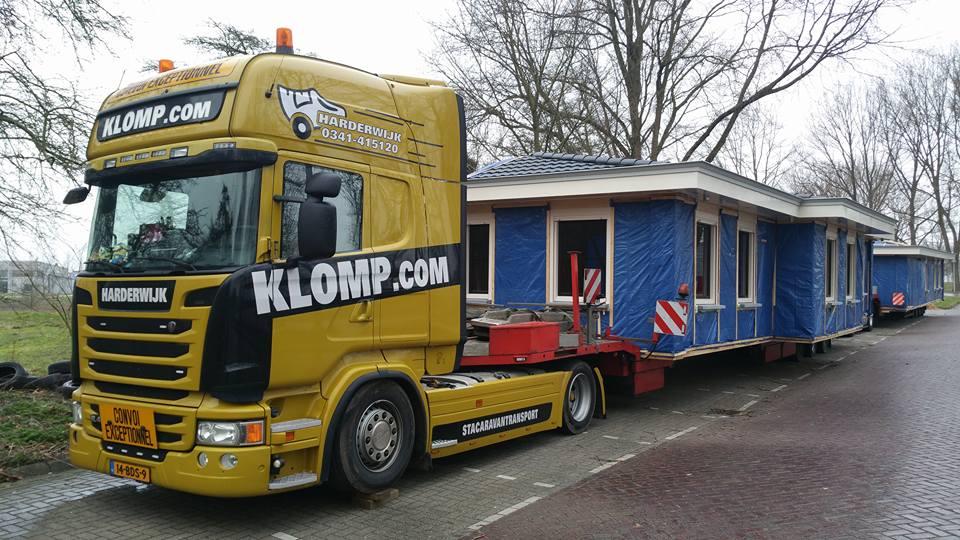 Woonwagen transport